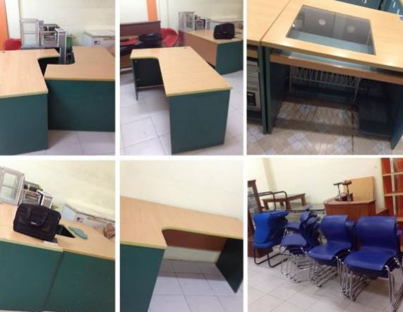 Thanh lý bàn ghế văn phòng tại Mê Linh