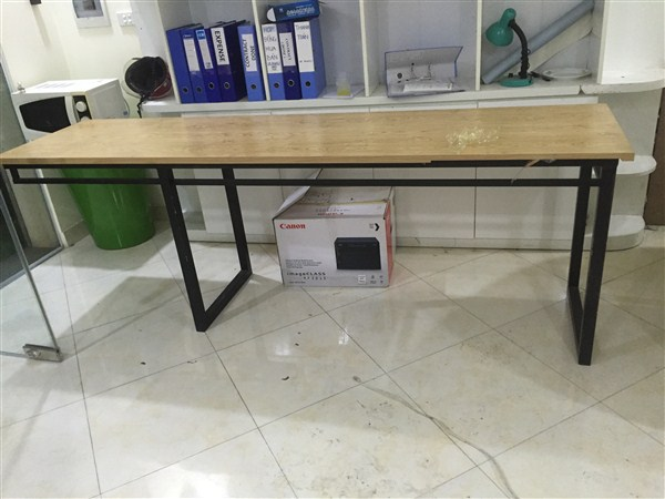 Duy Phát thanh lý bàn nhân viên chân sắt 60x2m4