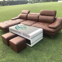 Thanh lý bộ sofa góc bọc da hàn quốc mới 100% (SFHQ8000)