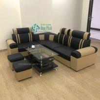 Thanh lý ghế sofa góc da màu đen mới 100% (SFG2300-3)