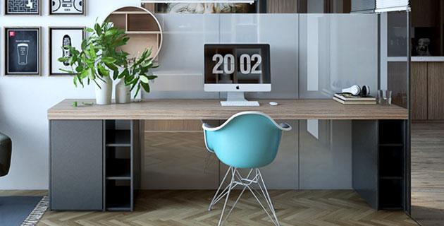 Tổng hợp 10 mẫu bàn làm việc Đẹp Nhất năm 2019 - 5