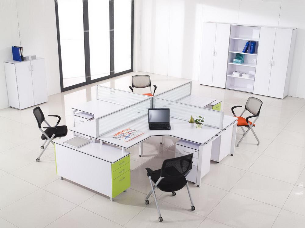 Tóp bàn làm việc văn phòng có vách ngăn hiện đại, giá rẻ nhất