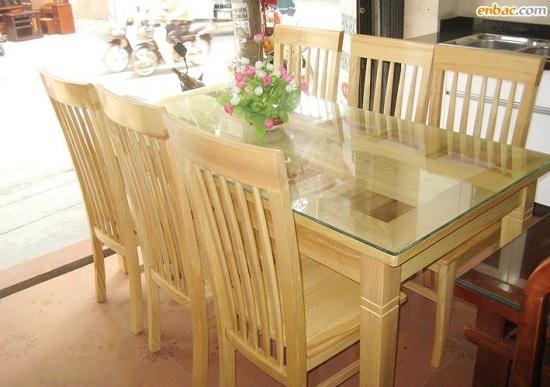 Bộ bàn ăn 6 ghế Đẹp được thiết kế hiện đại tối giảm diện tích