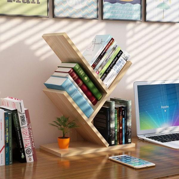 Kệ văn phòng để bàn hình cây 3 tầng